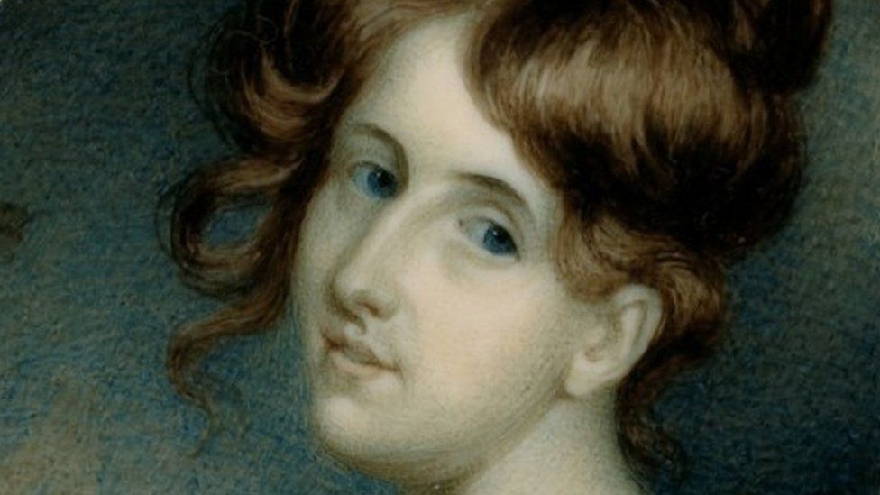a miniature portrait of a young Elizabeth Gaskell