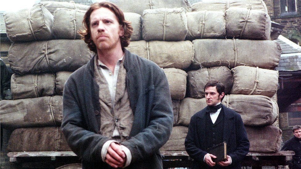 William Houston as John Boucher and Richard Armitage as John Thorton in the adaptation of Elizabeth Gaskell's novel North and South