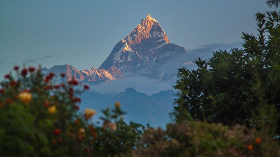 With a steep vertical relief and a prominent triangular shape, Machhapucchare is one of the most beautiful and recognisable peaks in the Annapurna Range (Credit: Neelima Vallangi)
